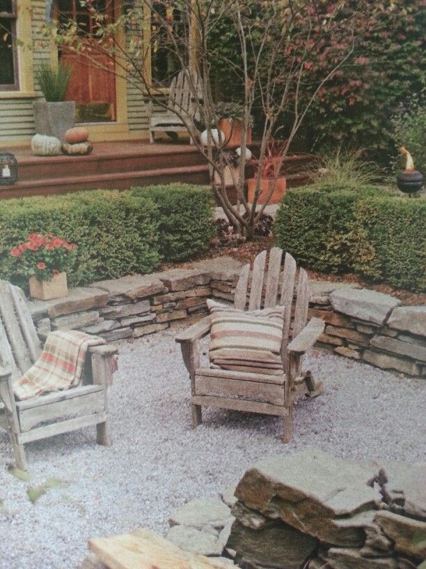 fire pit area outdoors pinterest
