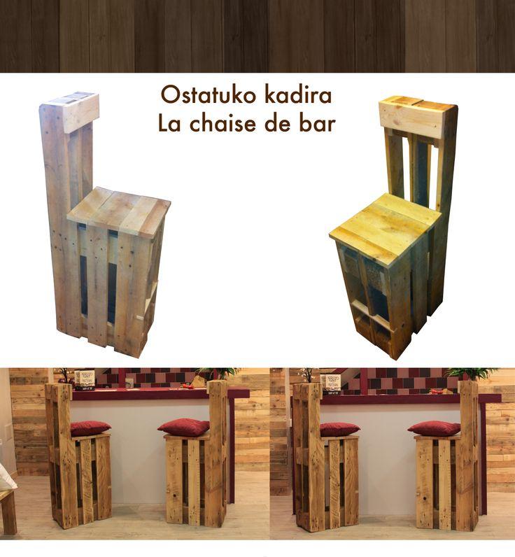 Chaise de bar en palette m bel wohnen pinterest - Chaise en bois de palette ...