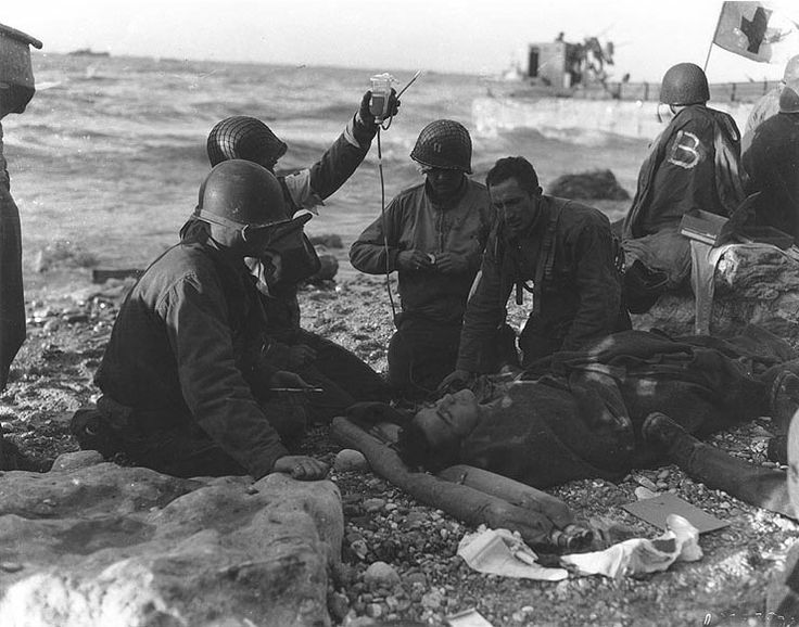 d-day casualty photos