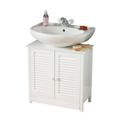 quality white wood under sink cabinet bathroom storage unit with