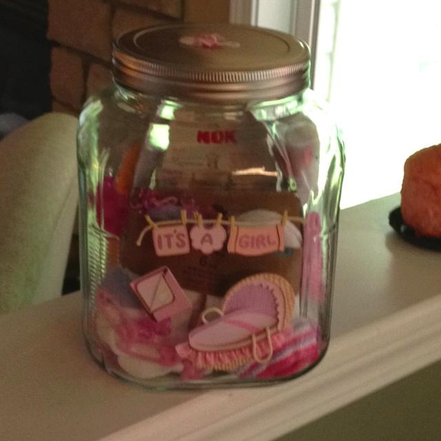 Baby Gift Jars : Cute diy baby gift jar my style