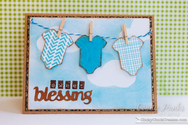 sweet blessing baby boy shower card with