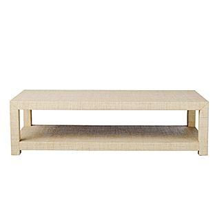 Serena lily blake raffia coffee table furniture for Raffia coffee table