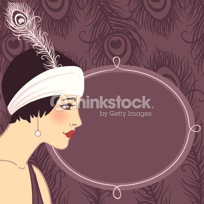 Clip art 1920s people flapper girl of 1920s vector art 158446276