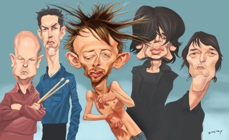 Radiohead Comic Art