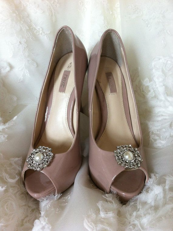 Handcrafted bridal shoe clips on Etsy, 35.00