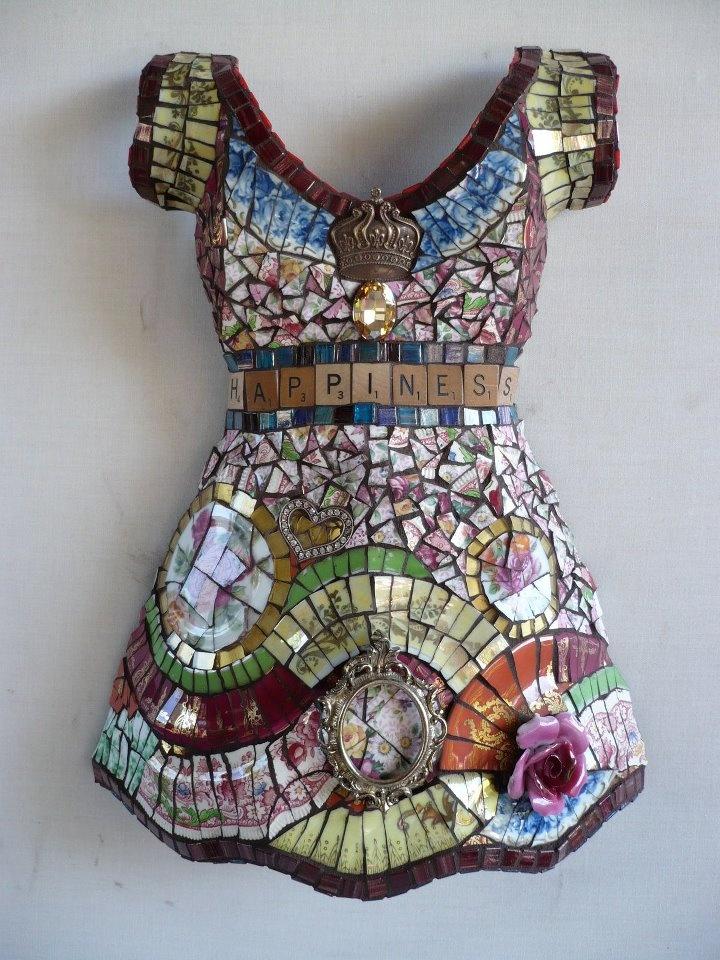 Susan Wechsler Mosaic Dress | Mosaics - Sculptural | Pinterest