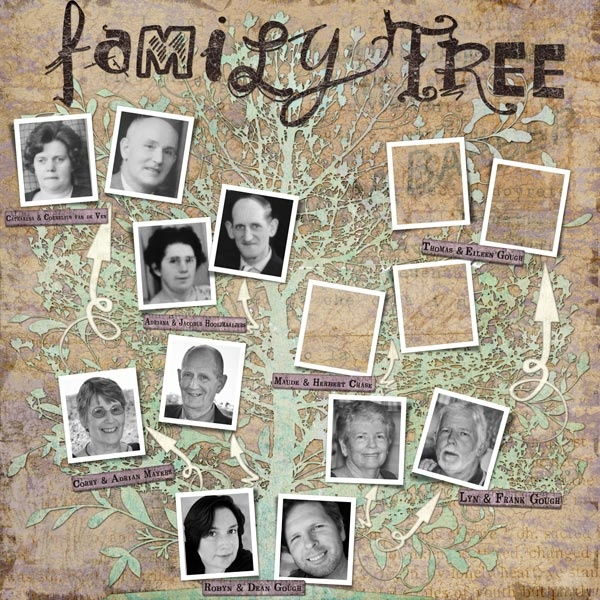 Family Tree created with the Our Family Tree Layered Template by Robyn ...