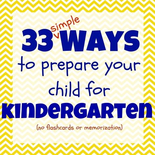 33 Simple Ways to Prepare Your Child for Kindergarten:  A Printable List