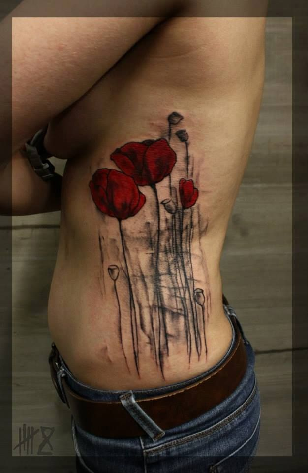 Poppy  opium  amapola  opio done by Mocho Tattoo at Siha Tattoo    Opium Tattoo