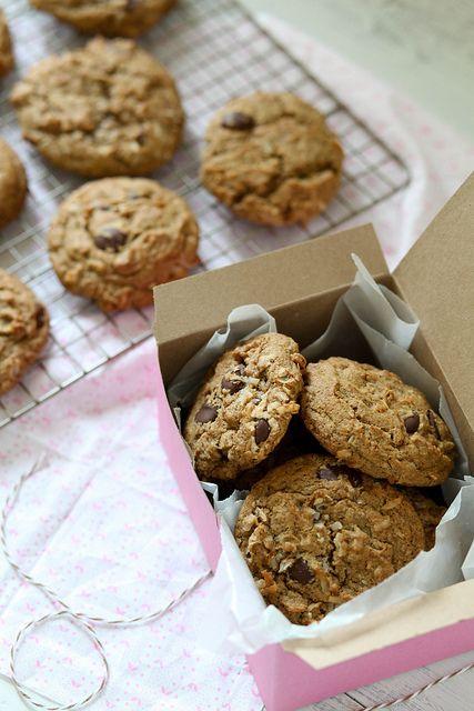 Espresso Dark Chocolate Coconut Cookies by annieseats