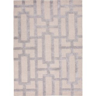 Hand-Tufted Contemporary Geometric Pattern Grey/ Silver Rug (5?x8?) - Overstock™ Shopping - Great Deals on 5x8 - 6x9 Rugs