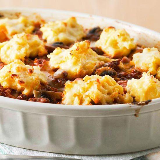 Polenta Sausage Mozzarella Casserole Recipes — Dishmaps