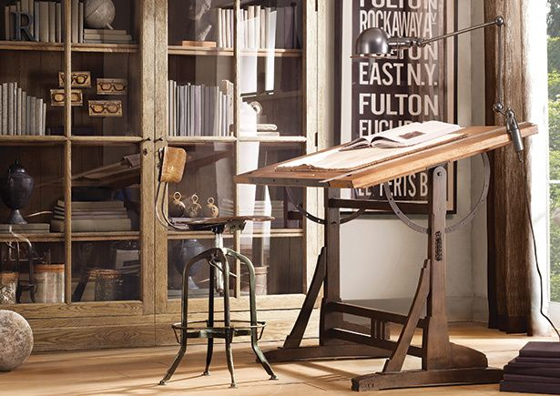 Decoracion loft vintage for Muebles de oficina vintage
