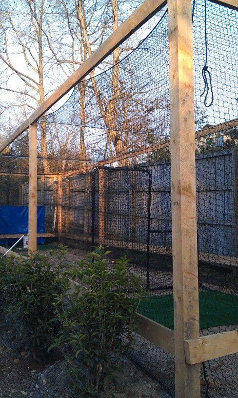 backyard batting cage paeton paet sissy pinterest
