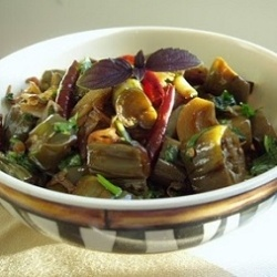 Thai flavored Spicy eggplant | kitchen inspiration | Pinterest