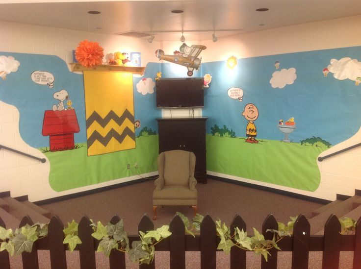 Charlie brown library decoration teacher ideas pinterest for Art classroom decoration ideas