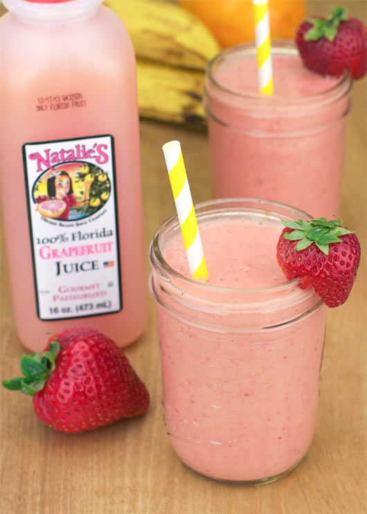 Grapefruit, banana & strawberry smoothie | Juicing & Smoothies | Pint...