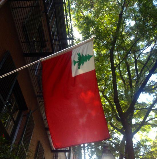 new england flag and banner