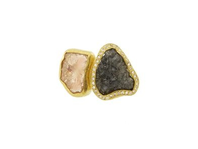 Rose Cut/Raw Diamond Ring - 18 Karat $11,660 todd reed