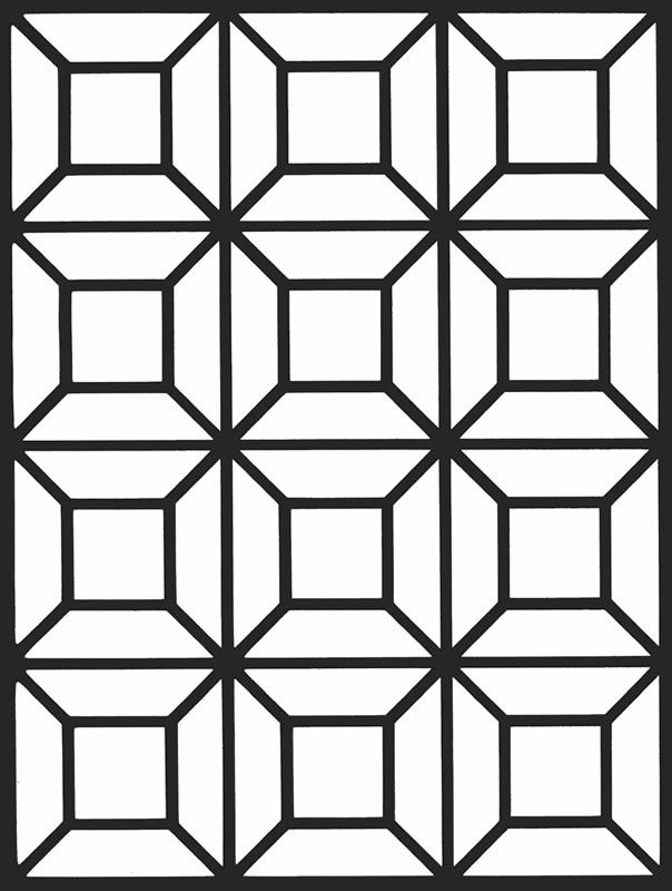 Coloring Pages Geometric Stained Glass