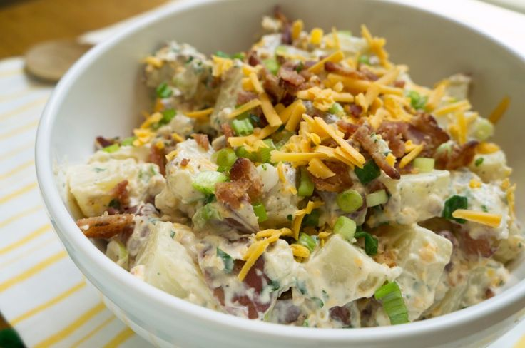Bacon Cheddar Potato Salad | Salads | Pinterest