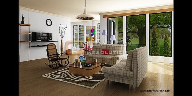 Interior house models design and modern custom house design at CAD ...