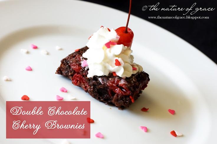 Double-Chocolate Cherry Quinoa Brownies Recipes — Dishmaps