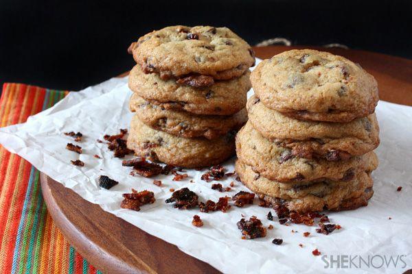 ... Candied bacon chocolate chip cookies #chocolatebacon #chocolate #