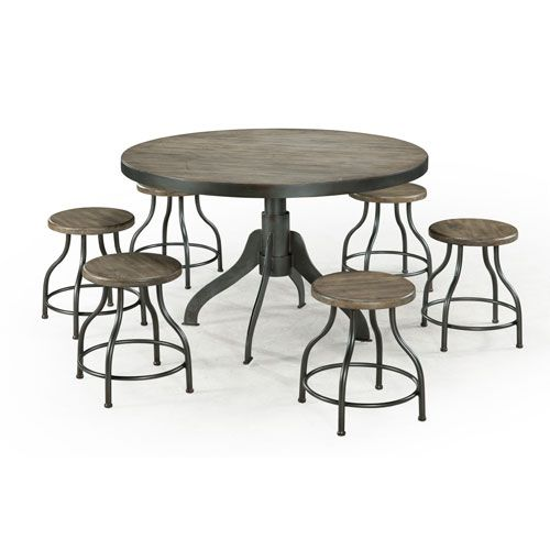 Distressed wood round dining table best dining table ideas for Distressed round dining table