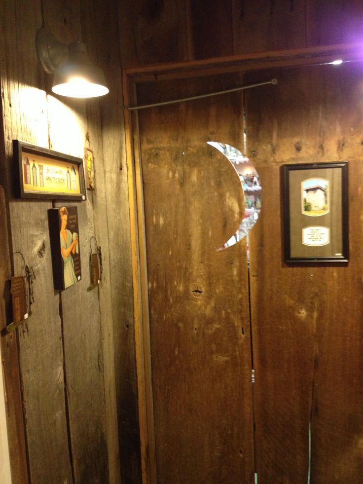 Outhouse bathroom cabin ideas pinterest for Outhouse bathroom ideas