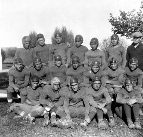 Owensmouth High School football team, 1924. Canoga-Owensmouth Historical Society. San Fernando Valley History Digital Library.