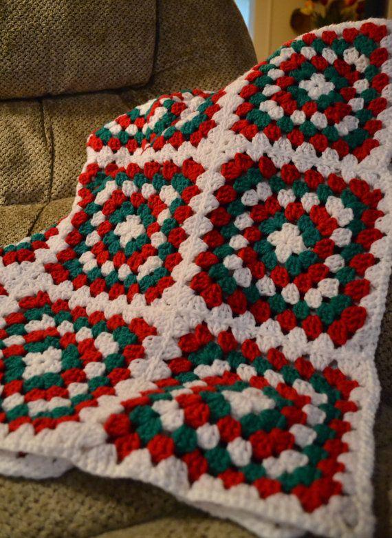 Free Crochet Christmas Throw Patterns : Crochet Afghan - Christmas