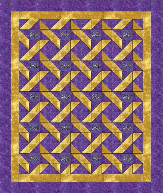 Quilt Patterns With Two Fabrics : Crown Royal Quilt Kit. Quilts: hst s Pinterest