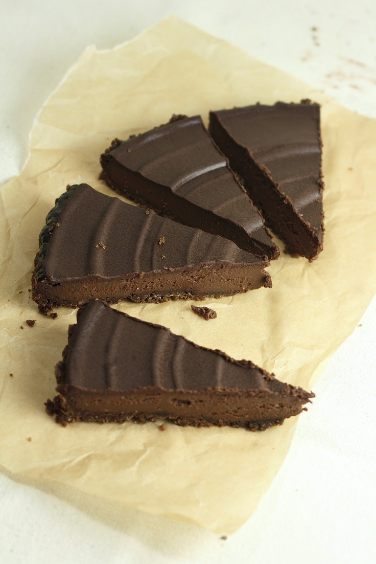 Triple Chocolate Truffle Tart - Not as firm as I expected, but ...