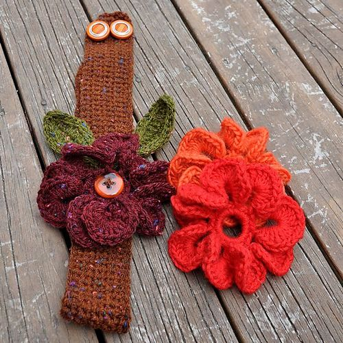 Free Crochet Pattern Headband With Flower : Crochet flower headband crochet Pinterest