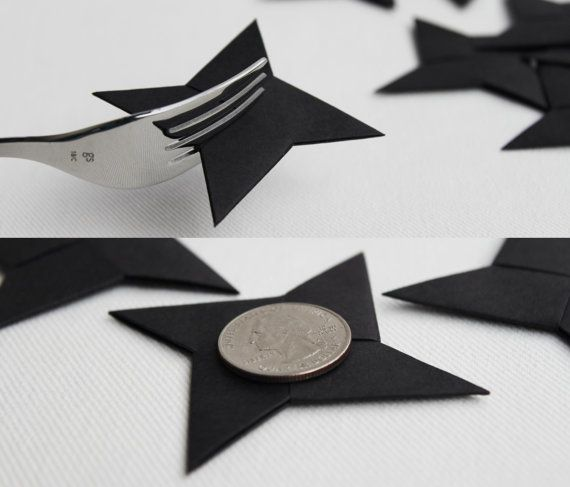 12 origami ninja stars . 3'' throwing shuriken . wedding ...