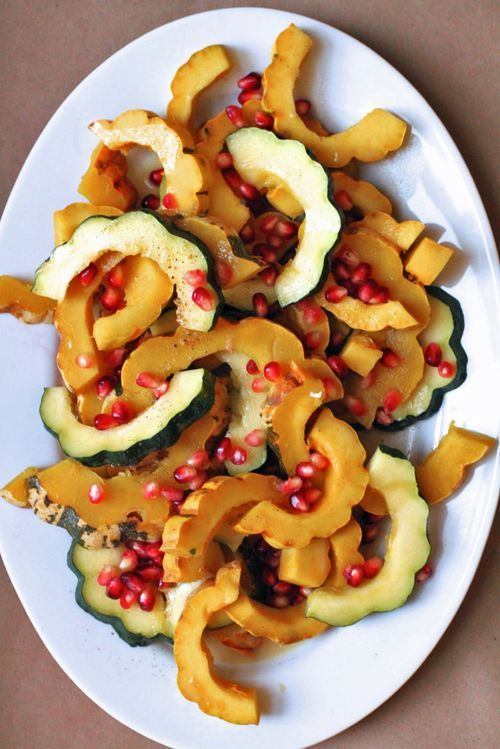Winter Squash with Spiced Butter and Pomegranate