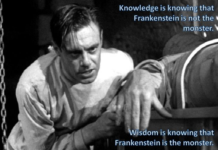 frankenstein knowledge as a force Why should you care about what the monster says in mary shelley s frankenstein don t worry, we re here to tell you.
