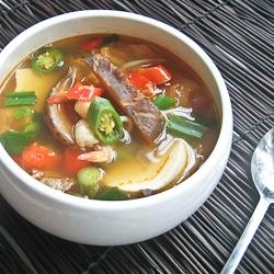 Korean soft tofu stew, soondubu jjigae - a spicy seafood based stew ...