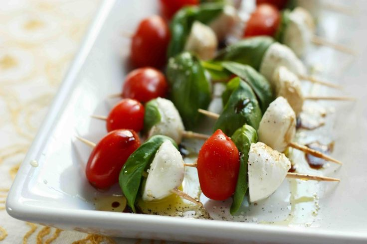 caprese skewers...garden appetizers | Garden Table Settings | Pintere ...