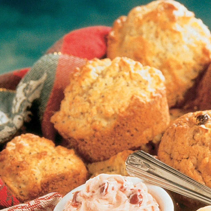 Orange Poppy Seed Muffins with Orange Cranberry Butter
