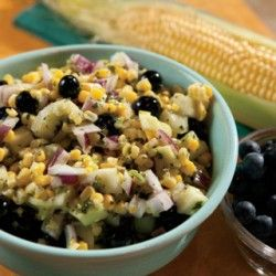 Blueberry Corn Salad | food and drinks | Pinterest