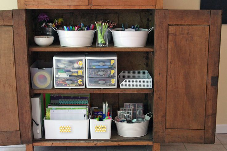 need to organize home office.How to Update an Organizing System: The Story of an Organized Homework Cabinet