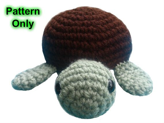 Turtle Crochet toy pattern, amigurumi