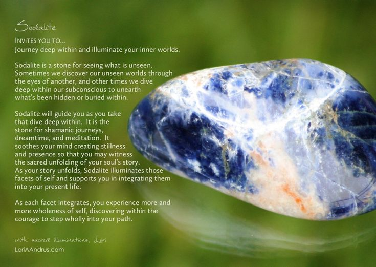 sodalite of the week crystals