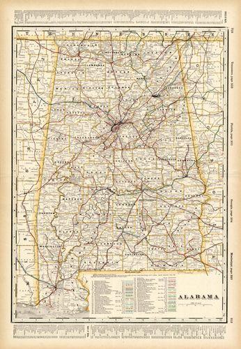 Alabama Railroad Map 1899  Wander  Pinterest