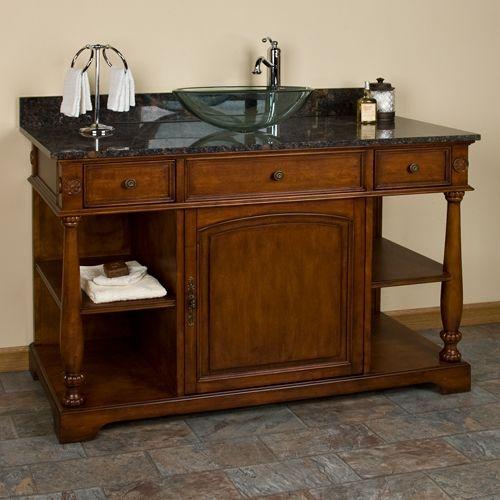 Antique Vanity For Vessel Sink Dream Design Pinterest
