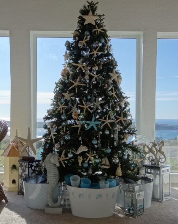 Christmas Decorations For The Beach House : Christmas tree decoration sea theme trees and