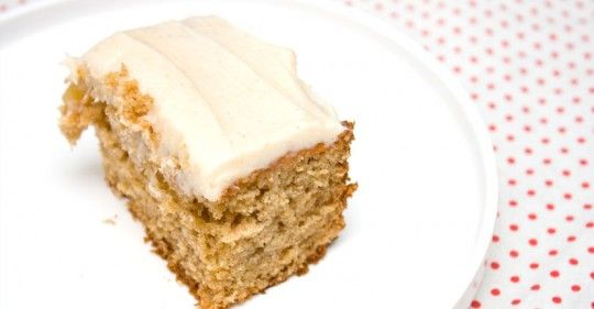 well this sounds perfect: spiced applesauce cake with cream cheese ...